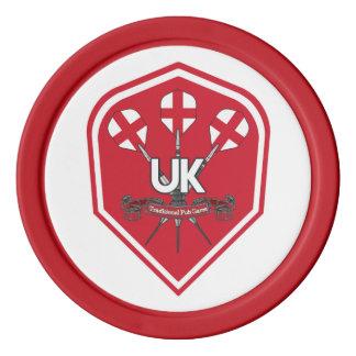 Lot De Jeton De Poker Jeux traditionnels de Pub de l'Angleterre