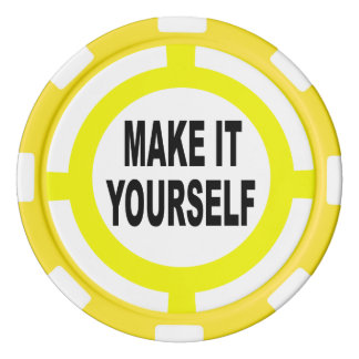 Lot De Jeton De Poker Le do-it-yourself le rendent vous-même blanc et