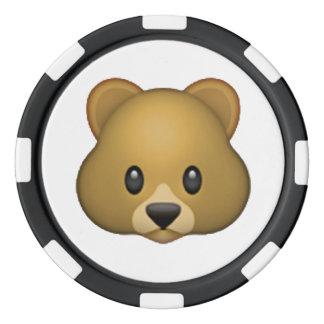 Lot De Jeton De Poker Ours - Emoji