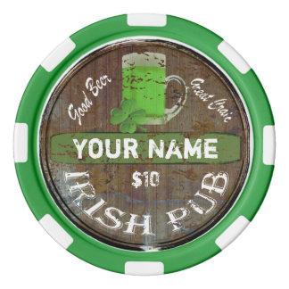 Lot De Jeton De Poker Signe irlandais personnalisé de Pub