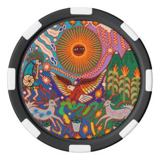 Lot De Jeton De Poker Voyage tribal maya mexicain de Boho d'art d'Oaxaca