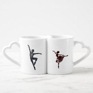Lot De Mugs Ballerine élégante, beaux danseurs classiques