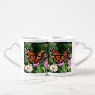 Lot De Mugs Beau papillon sur la fleur de Lantana