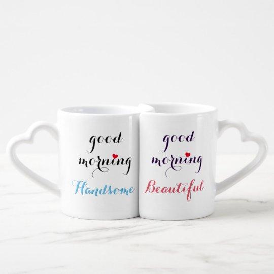 lot de mugs beaux couples beaux bonjour ses et sien. Black Bedroom Furniture Sets. Home Design Ideas