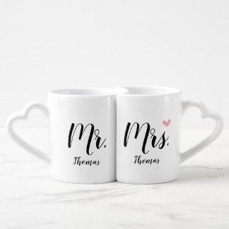 Lot De Mugs Cadeau personnalisé de mariage/nouveaux mariés -