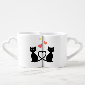 Lot De Mugs Chats dans l'amour