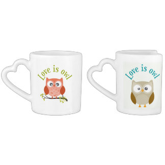 "Lot De Mugs Collection ""Love is owl"""