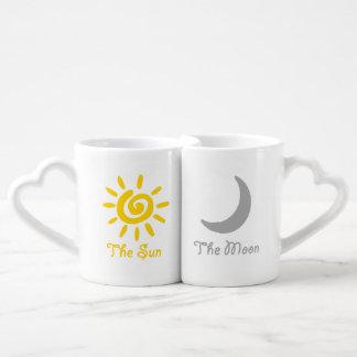 Lot De Mugs Couples de Sun et de lune