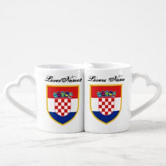 Lot De Mugs Drapeau de la Croatie personnalisé