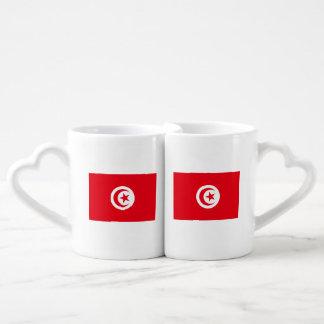 Lot De Mugs Drapeau de la Tunisie