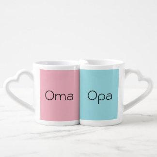 Lot De Mugs Ein Paar Kaffeetassen d'Opa d'und d'Oma