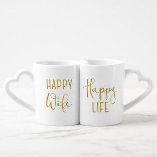 Lot De Mugs Épouse heureuse, la vie heureuse
