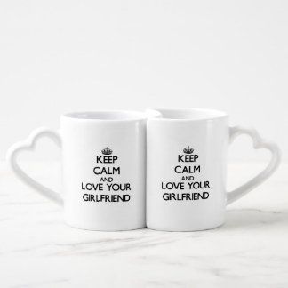 Lot De Mugs Gardez le calme et aimez votre amie