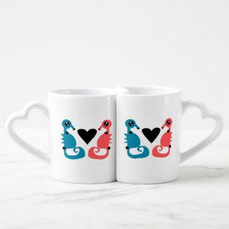 Lot De Mugs Hippocampes divins de l'amour de double d'amour