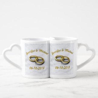 Lot De Mugs La jeune mariée et le marié de date de mariage