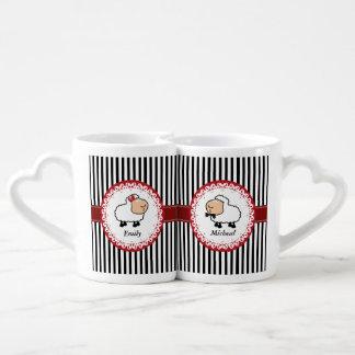Lot De Mugs les couples lunatiques drôles d'amour de moutons