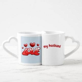 Lot De Mugs Les Valentines attaque l'amour mon épouse, aiment