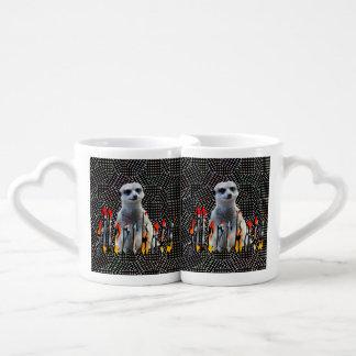 Lot De Mugs Logo de Meerkat et de Meerkats,