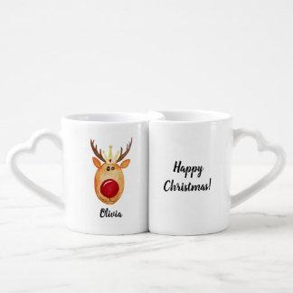 Lot De Mugs Noël heureux de princesse Rudolph de couples avec