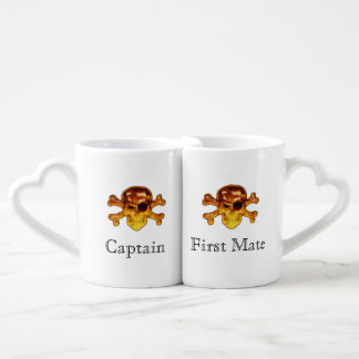 Lot De Mugs Os croisés de crâne de pirate de capitaine et de