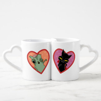 Lot De Mugs Paire de tu effiloches de chat zombie et Drácula