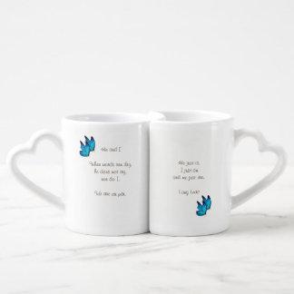 Lot De Mugs Poème d'amour
