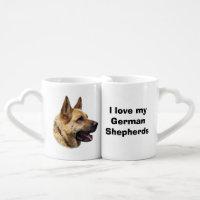 Portrait alsacien de chien de berger allemand