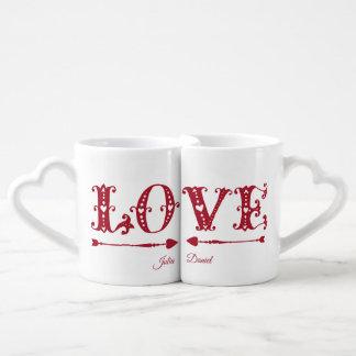 Lot De Mugs Saint-Valentin d'amour