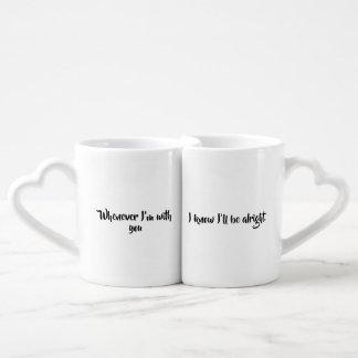 Lot De Mugs Toutes les fois que je suis avec vous…