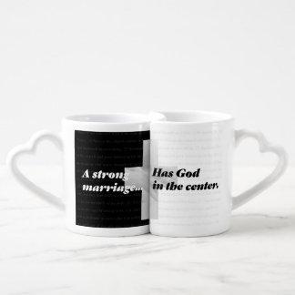 Lot De Mugs Un mariage fort a Dieu au centre