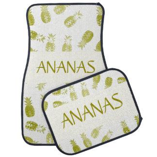 Lot de tapis auto complet (lot de 4) Ananas