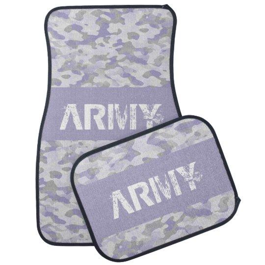Lot de tapis auto complet (lot de 4) Camouflage