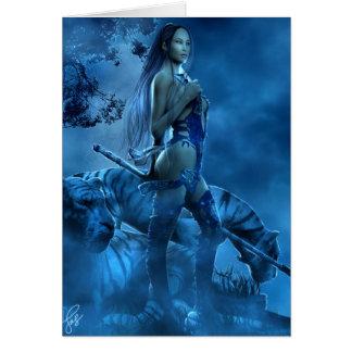 Lotus bleu cartes de vœux