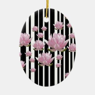 Lotus Ornement Ovale En Céramique