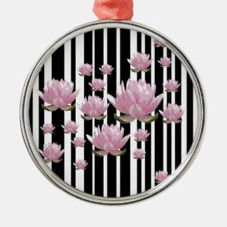 Lotus Ornement Rond Argenté