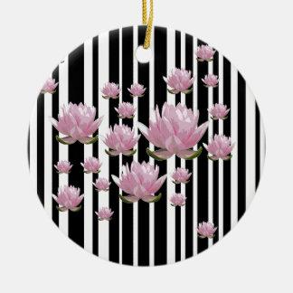 Lotus Ornement Rond En Céramique