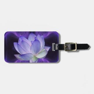 Lotus pourpre et la géométrie sacrée étiquettes bagages