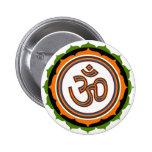 Lotus spirituel OM conçoivent Pin's Avec Agrafe