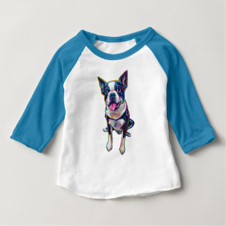 Louie Boston mignon Terrier T-shirt Pour Bébé
