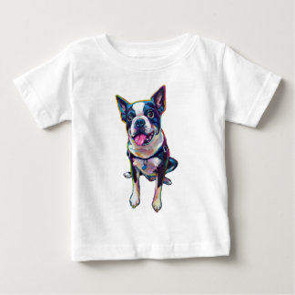 Louie Boston Terrier T-shirt Pour Bébé