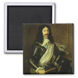 Louis XIII (1601-43) (huile sur la toile) Magnet Carré