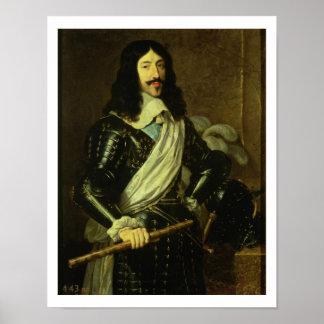 Louis XIII (1601-43) (huile sur la toile) Posters