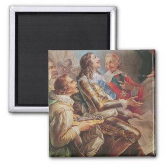 Louis XIII consacrant l'église de Notre-Dame Aimant Pour Réfrigérateur