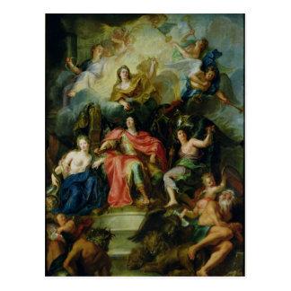 Louis XIV couronné par gloire, c.1686 Carte Postale