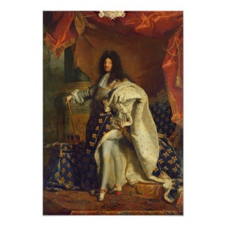 Louis XIV dans le costume royal, 1701 Posters