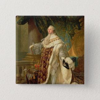 Louis XVI (1754-93) (huile sur la toile) Badge