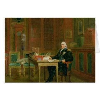 Louis XVIII dans son étude chez le Tuileries Carte De Vœux