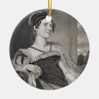Louisa Catherine Adams (1775-1852) gravé par G.F Ornement Rond En Céramique