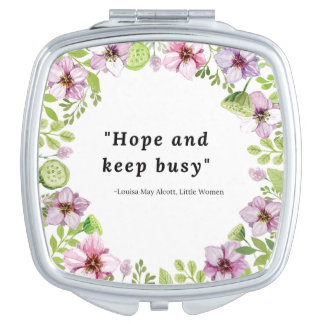 Louisa peut Alcott, petite citation de femmes Miroir Compact