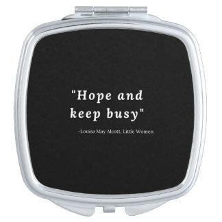 Louisa peut Alcott, petite citation de femmes Miroir De Maquillage